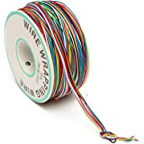 ELEGIANT Colored Insulation Cable B-30-1000 250M 30 AWG 8-Wire Test Wrapping Wire, Tinned Copper Solid Cable