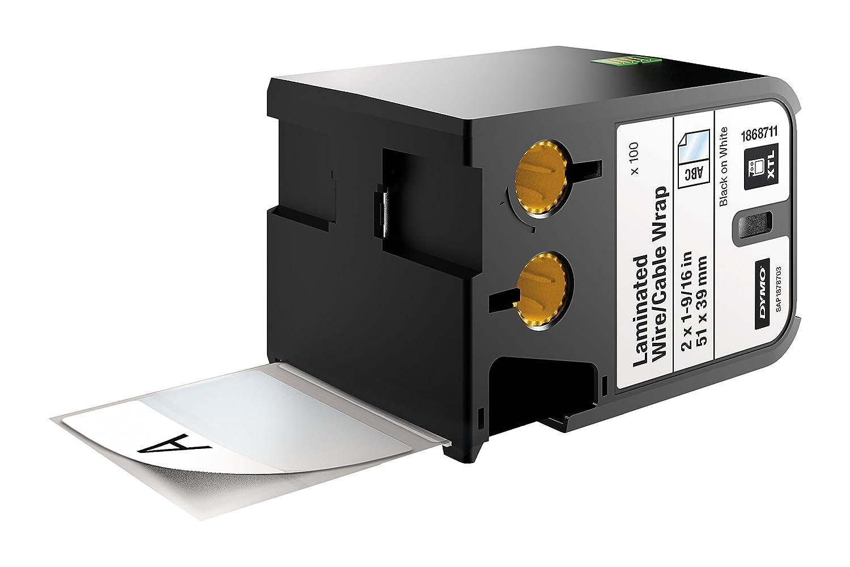 vinilo negro sobre blanco DYMO XTL laminado cable//cable wrap 21 mm x 102 mm