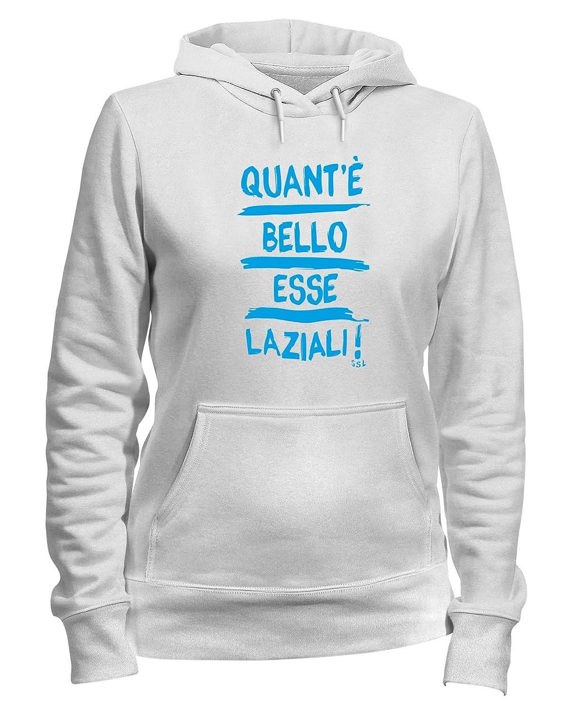 Speed Shirt Felpa Donna Cappuccio Bianca TUM0027 Lazio SSL ...