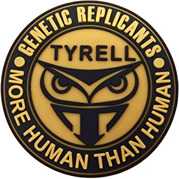 Blade Runner Tyrell Genetic Replicants Owl iron on sew on Patch GOLD A1170