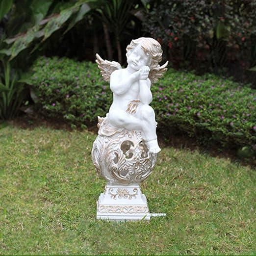 Simulación Ángel Niño Luz Solar Decoracion Exterior Escultura De Acero En Vidrio Patio Jardín Decoraciones Paisajísticas. 25X25X55cm: Amazon.es: Hogar