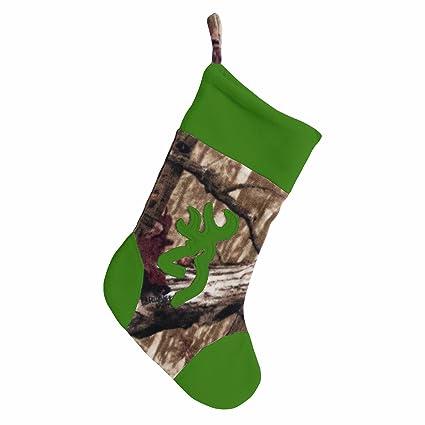 browning green and camo christmas stocking - Camo Christmas Stocking