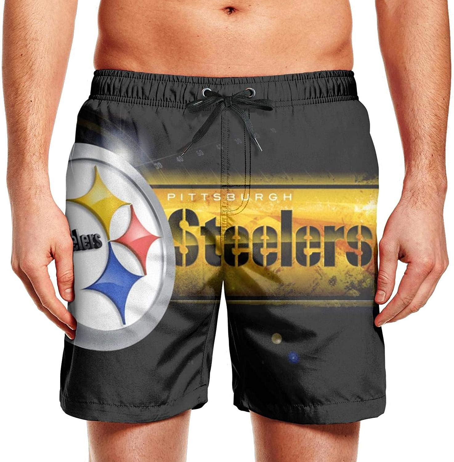 Pittsburgh Steelers Champion Fans Poster Mens Water Swimming Trunks Patriotic Shorts
