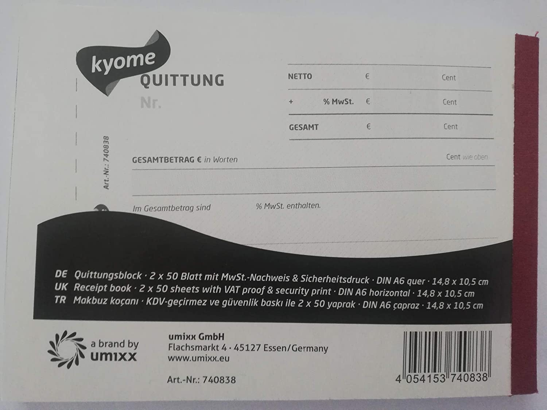 Kyome Quittungsblock