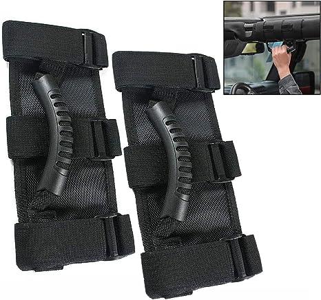 Xrten 2 Stück Auto Haltegriff Griffe Für Jeep Wrangler Yj Tj Jk Handgriffe Gummigriff Küche Haushalt