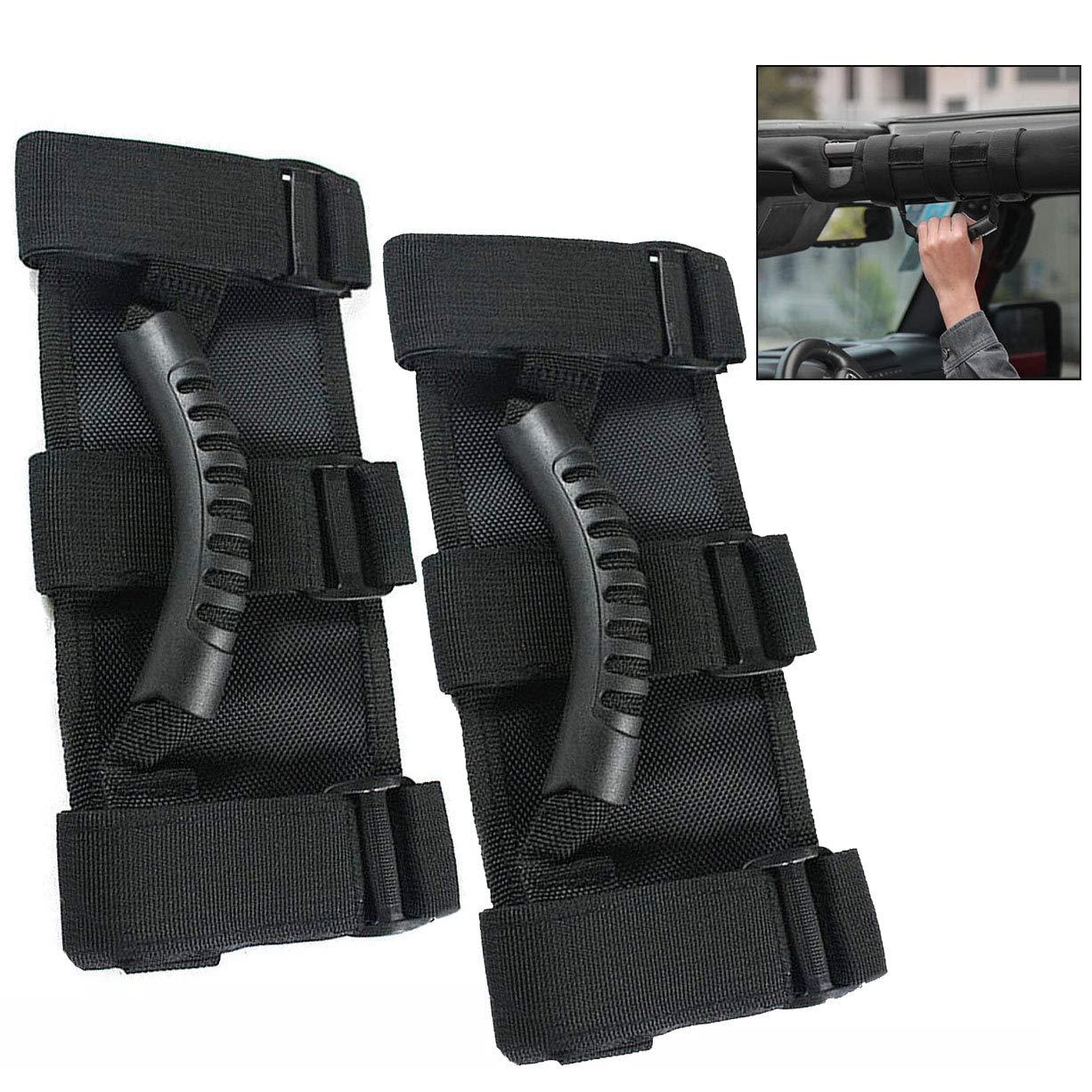 pour Wrangler JK TJ 4x4WD Off Road Accessoires 2 3 Bar Xrten 1 Paire Poign/ées avec Sangles Durables pour Auto
