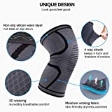 Compression Knee Sleeve,LezGo Breathable Non-slip
