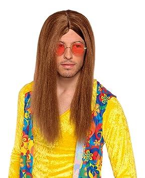 Brown hippy wig for men (peluca): Amazon.es: Juguetes y juegos
