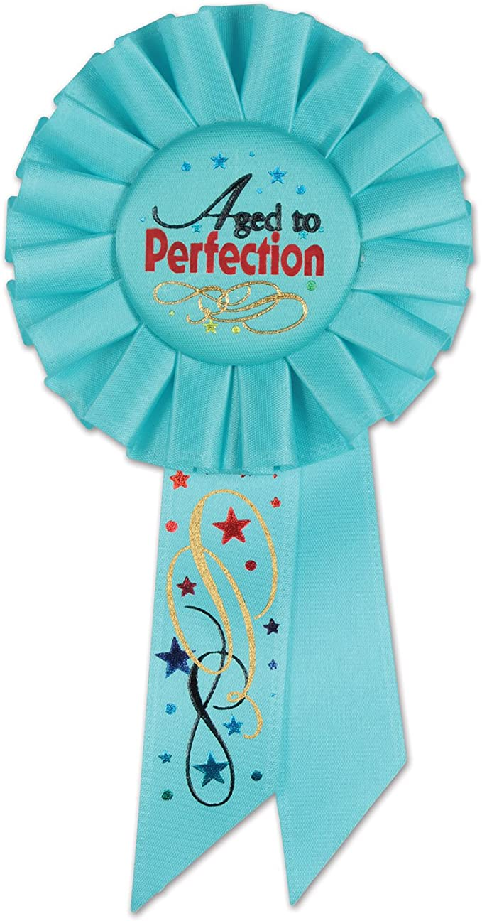 3-1//4-Inch by 6-1//2-Inch Red The Beistle Company Beistle RS191 Its My Birthday Rosette Party Item