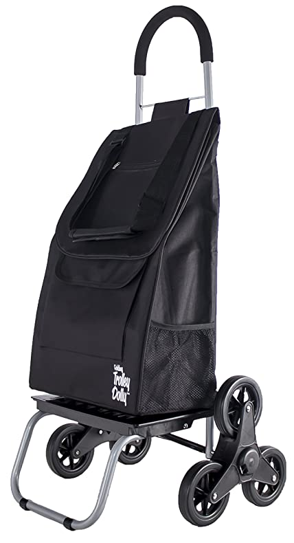Amazon.com: Trolley Dolly Stair Climber, Black Grocery Foldable ...