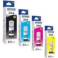 Epson. 4 Pack Botella Tinta T544 L1110 L3110 L3150 Negro, Amarillo, Magenta, Cian 260mL Numero de Parte T544420-AL T544220-AL T544320-AL T504220-AL Compatible con Equipos L3110, L3150 Linea Ecotank