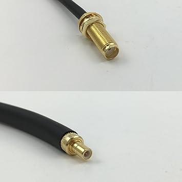 Cable coaxial RF RG178 SMA Hembra de 15 cm de Largo a SMB ...