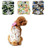 OHBABYKA 3PCS Premium Washable Male and Female Dog Diapers of Durable Doggie Diapers for Pets