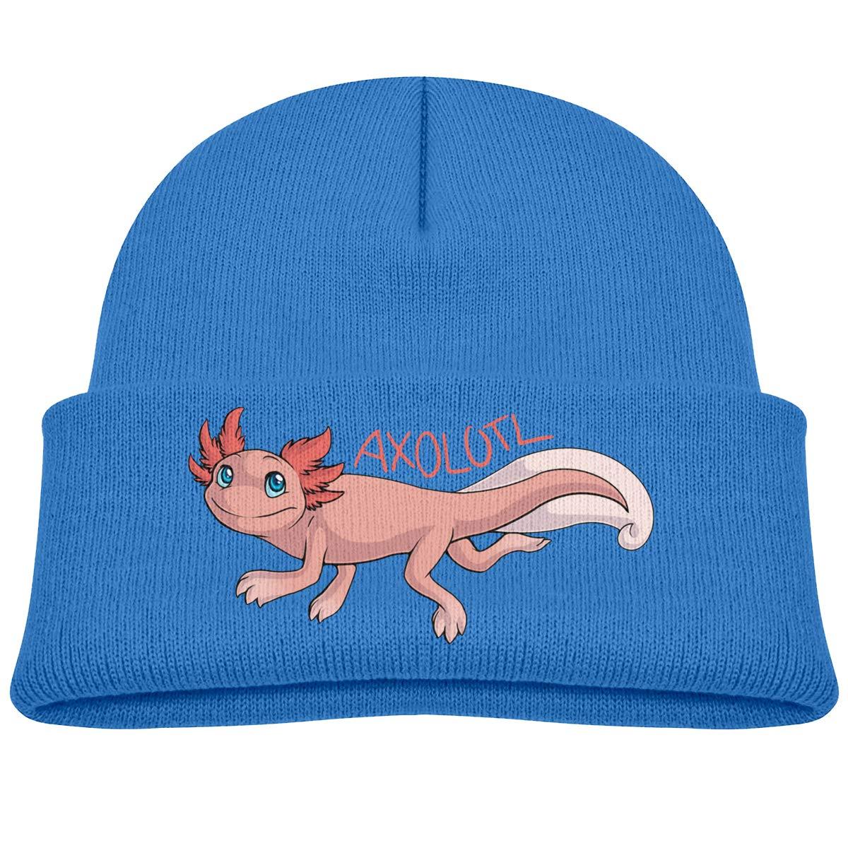 XKAWPC Axolotl Knitted Hat Winter Skull Beanies Toddlers Cuffed Plain Cap