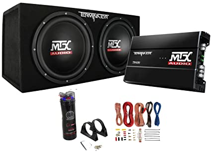 amazon com mtx dual 12 subwoofers and amplifier package with rh amazon com