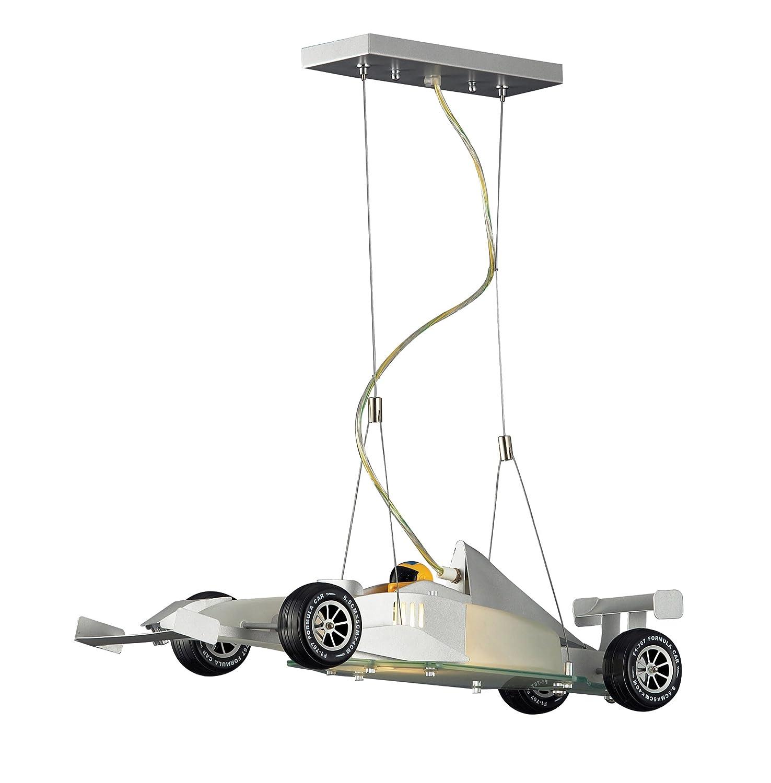 Satin Nickel Pendant Light Part - 50: Elk 5082/2 2-Light Race Car Pendant In Satin Nickel - Ceiling Pendant  Fixtures - Amazon.com