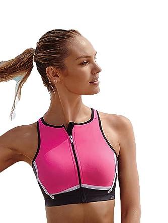 de69516941 Amazon.com  Victoria s Secret Knockout High-Neck Front-Close Sport ...