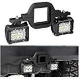 Nilight 2 PCS 4 Inch 60W Led Pods with 2.5 Inch Tow Hitch Mounting Brackets LED Backup Reverse Lights Rear Search Lighting Le