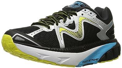 MBT Women's GT 16 Running Shoe, Black/Powder Blue/Yellow, 5 M
