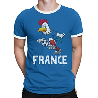 82b718dab Buzz Shirts ® Mens T-Shirt France Cartoon Cockerel World Cup 2018 Football  Patriotic French  Amazon.co.uk  Clothing