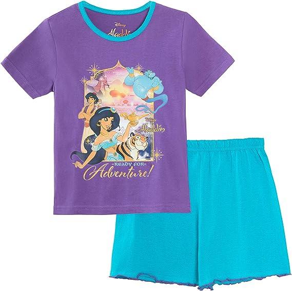 Disney Pigiama a Maniche Corte per Ragazze Aladdin Jasmine