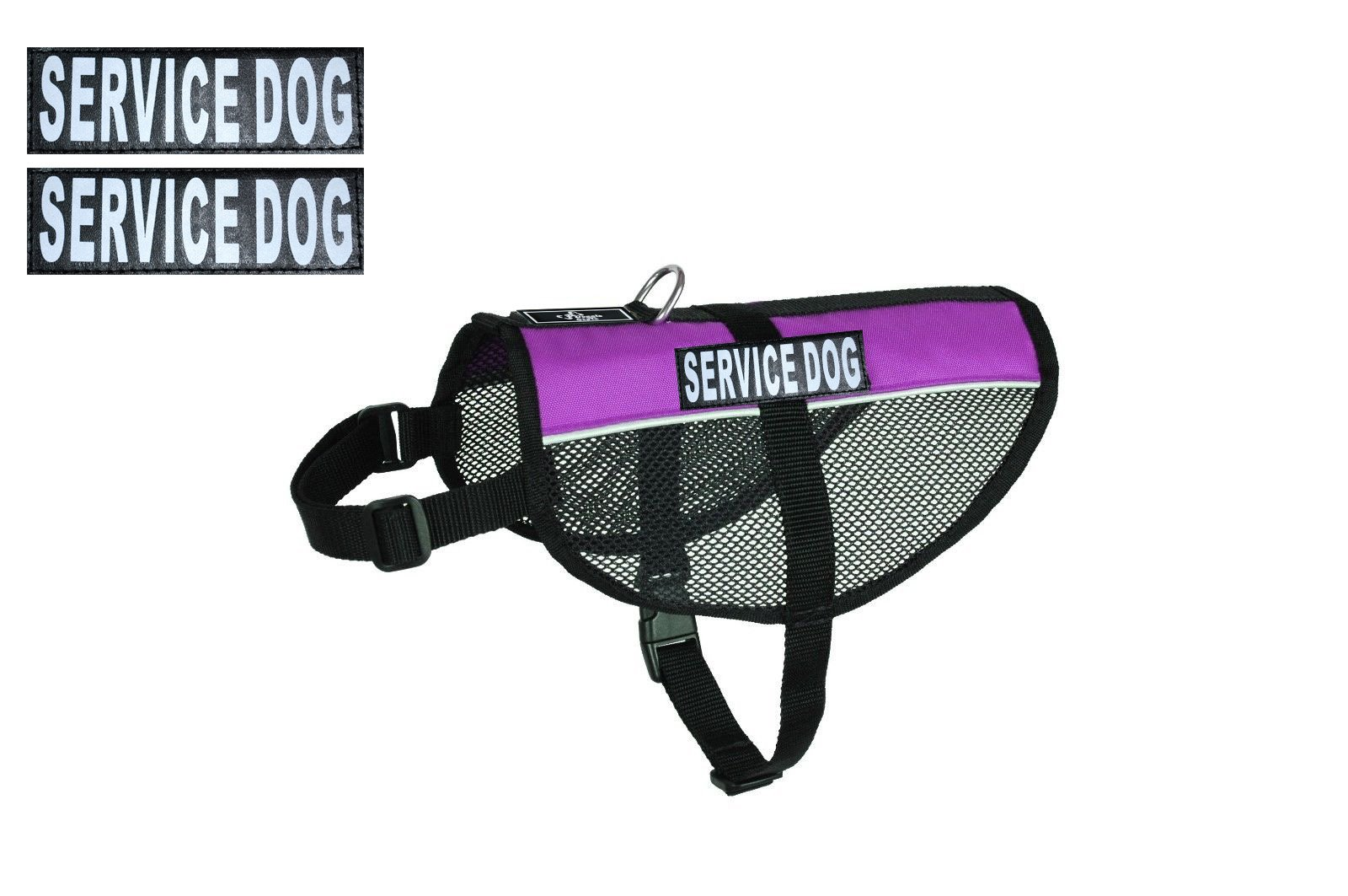 Service Dog mesh vest Harness Cool Comfort Nylon for dogs Small Medium Large Purchase comes with 2 reflective SERVICE DOG pathces. PLEASE MEASURE your dog before ordering