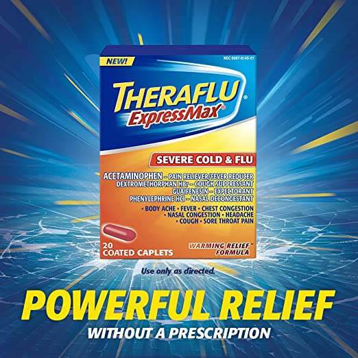 Amazon Theraflu Expressmax Severe Cold Flu Warming Relief