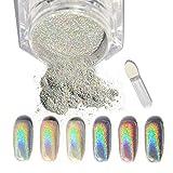 Vanyda 5g holographique Laser Poudre Nail Art Paillettes arc-en-ciel Pigment Manucure Chrome pigments