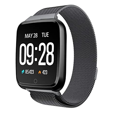 Amazon.com: WaiiMak Y7 Bluetooth Smart Watch, Heart Rate ...