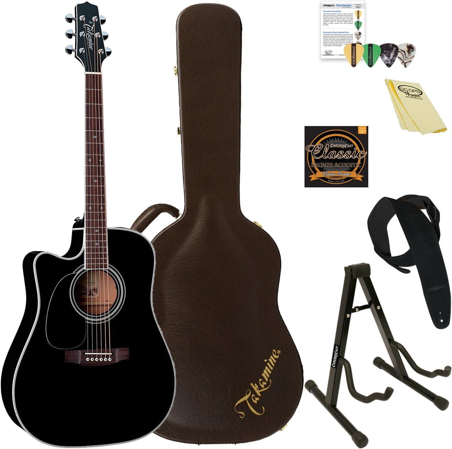 Takamine EF341SC LH-KIT-2 Left-Handed Solid Cedar Acoustic-Electric Guitar