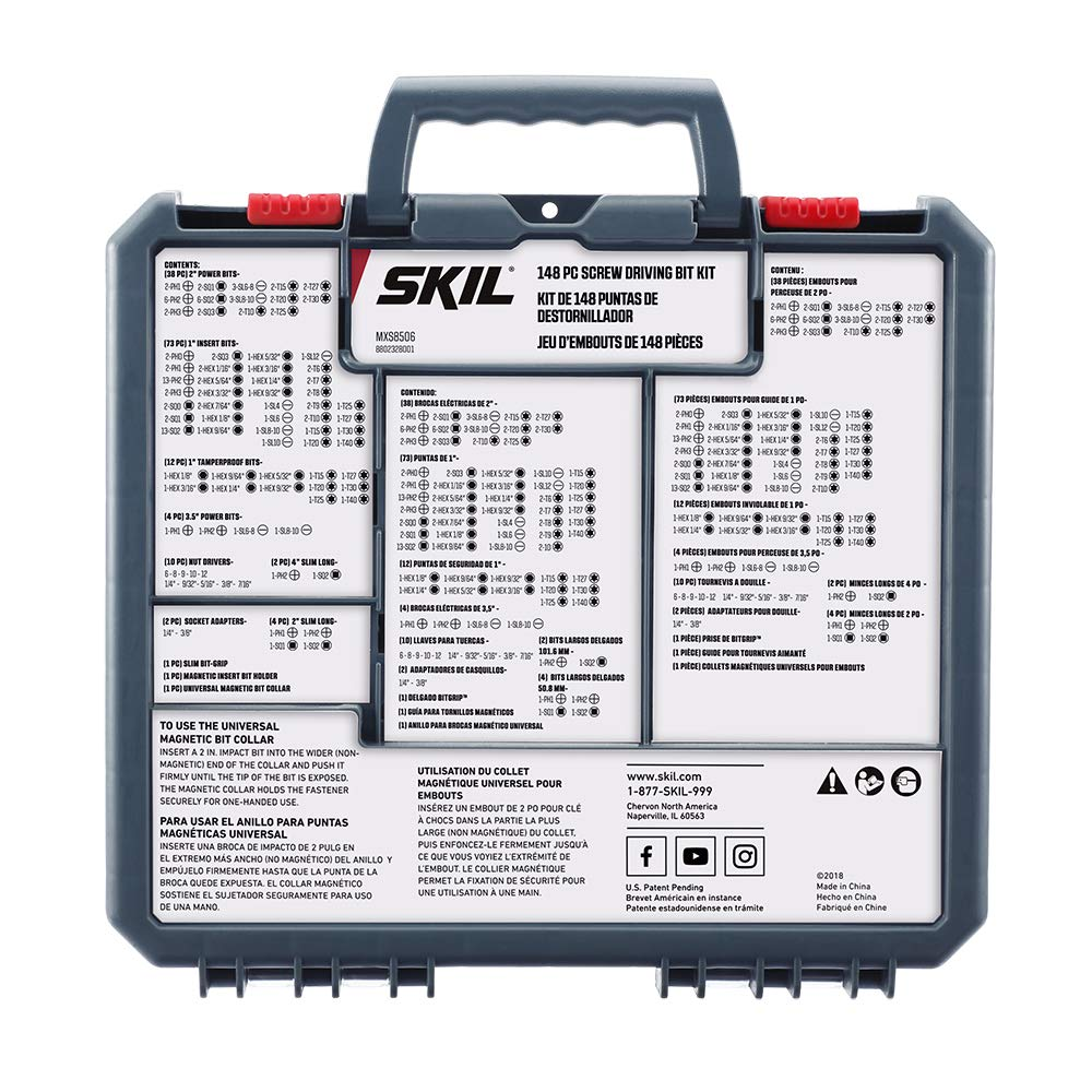 SKIL 148 Piece Screwdriver Bit Set - MXS8506