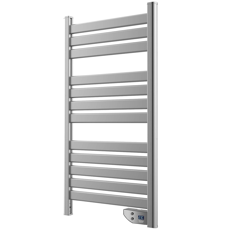 Cecotec Toallero de bajo Consumo. 450 W. Seca Toallas. IP24. Temporizador. Pantalla. Potente. Diseño Moderno. Ready Warm 9000 Twin Towel Steel: Amazon.es: ...
