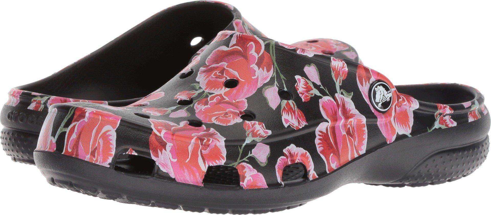Crocs Women's Freesail Graphic W Clog, Multi Rose/Black, 7 M US