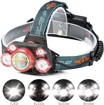 5000 lumen 5 modos de Zoomable LED 18650 Foco L/ámpara