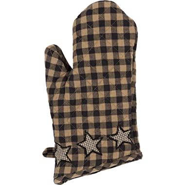 VHC Brands Classic Country Primitive Tabletop & Kitchen - Farmhouse Star Black Oven Mitt