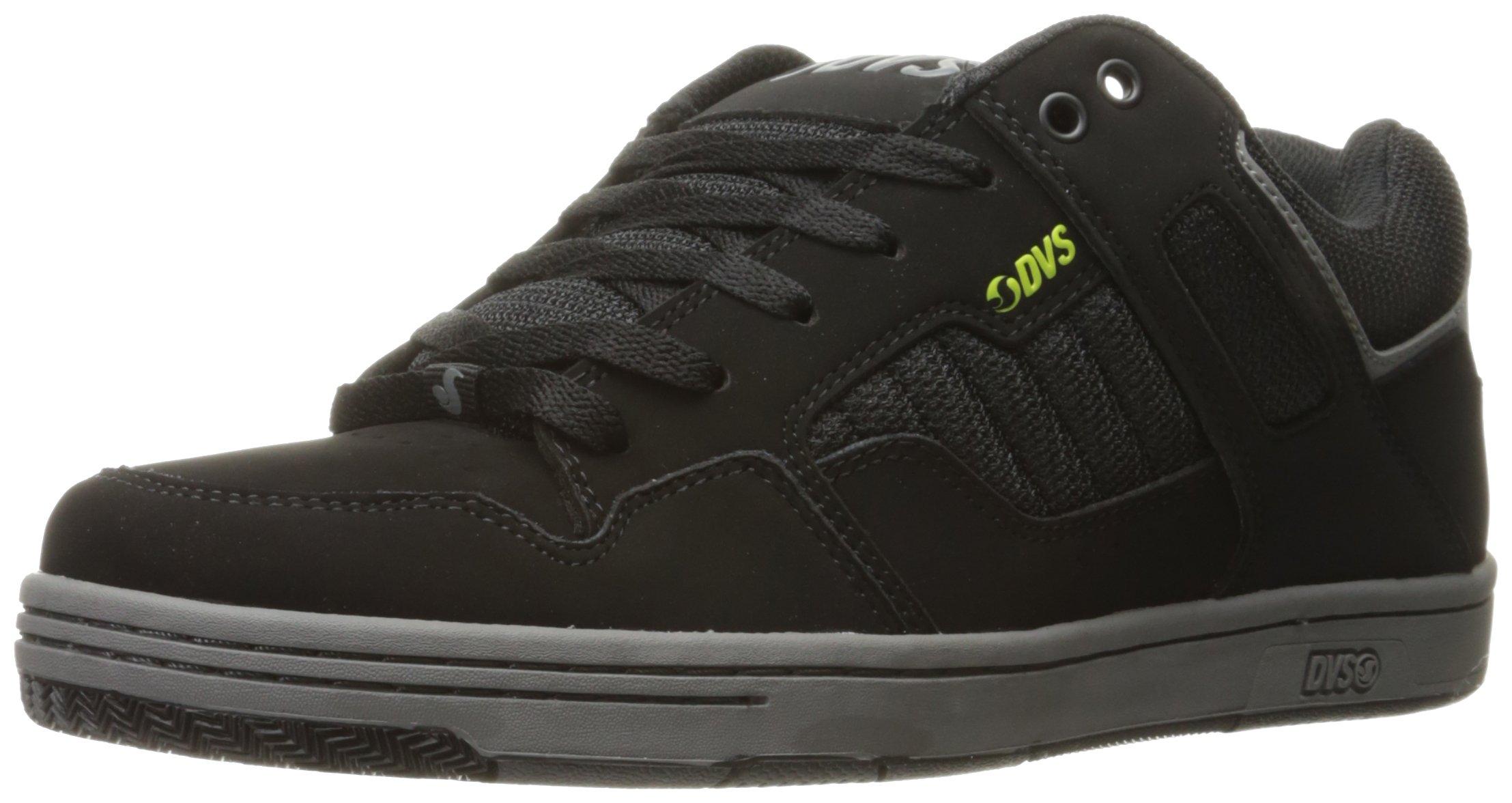 DVS Men's Enduro 125 Skateboarding Shoe, Black Lime Leather Nubuck, 12 M US