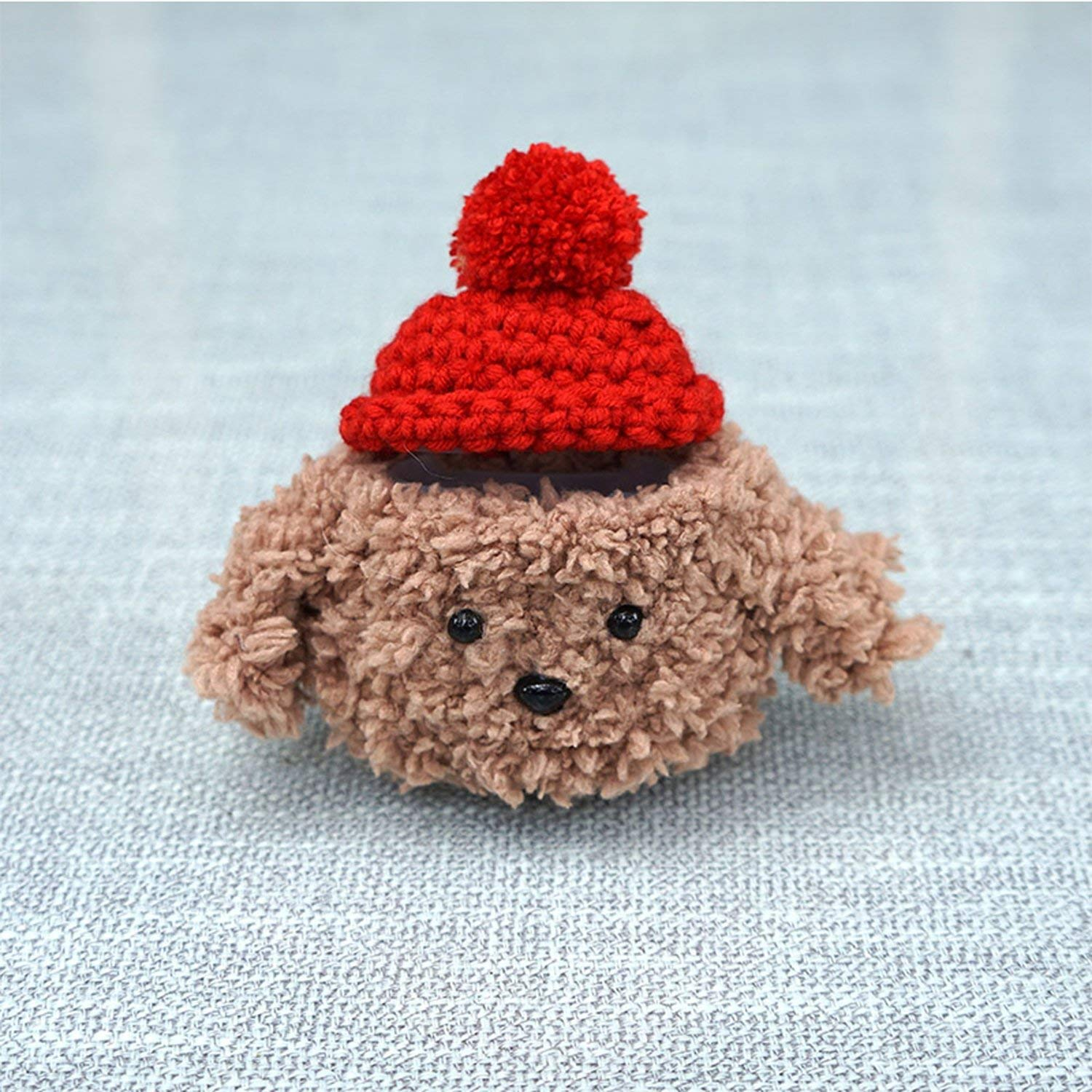 Amazon.com: Handmade Knitting Teddy Dog Earphones Case for ...