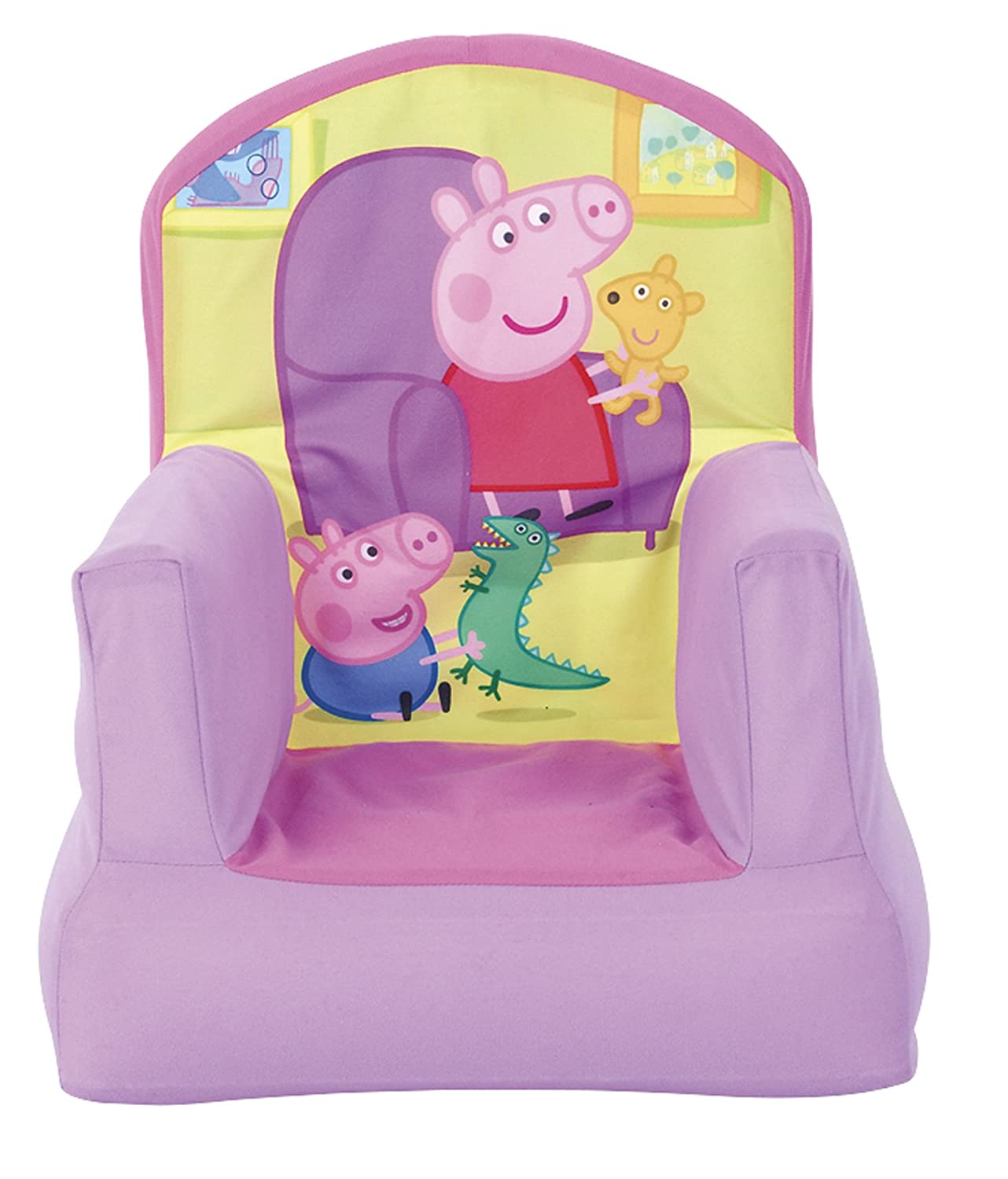 Peppa Pig Inflatable Chair for Kids - Multi-Colured Worlds Apart 280PPA01E bbcc4249971 Cartoons & Comics