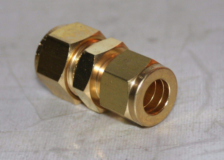 5//8 x 1//2 Tube Brass Union Reducer Fitting Ham-Let 763LB5//8X1//2