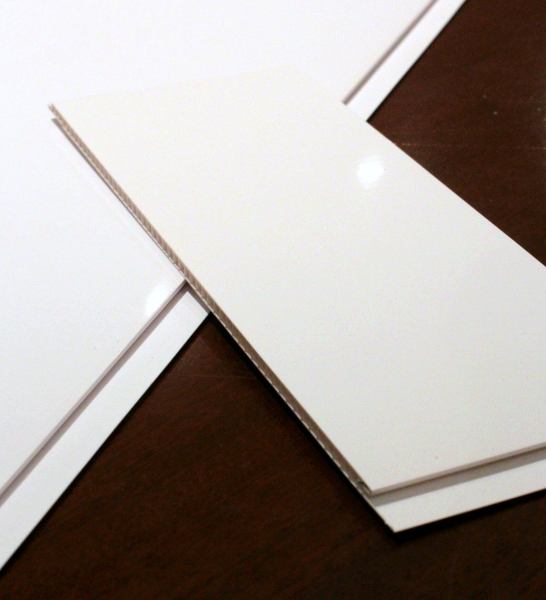 The Cladding Store Gloss White Bathroom PVC Cladding Shower Ceiling Kitchen Wet Wall Panels UPVC Shower Panels (4 Pack)