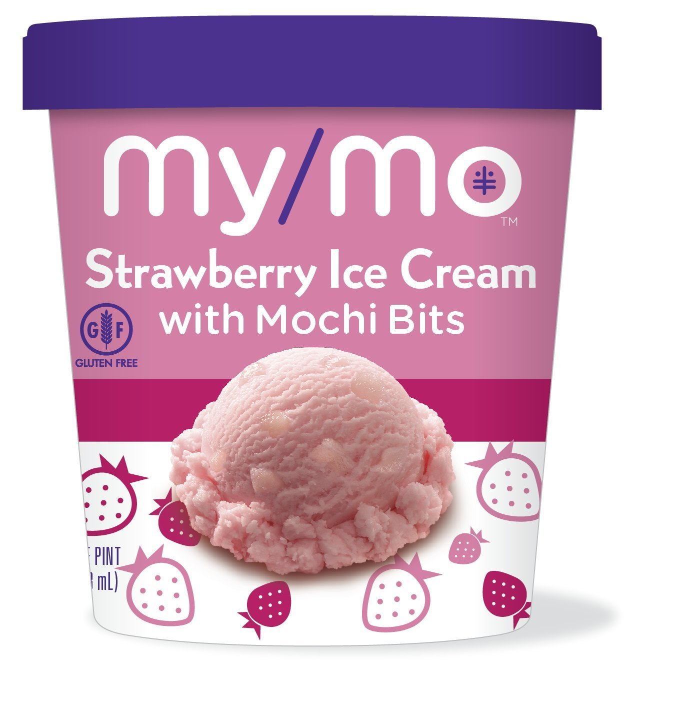 My/Mo Strawberry Ice Cream with Mochi Bits (8 pints) by My/Mo Mochi Ice Cream