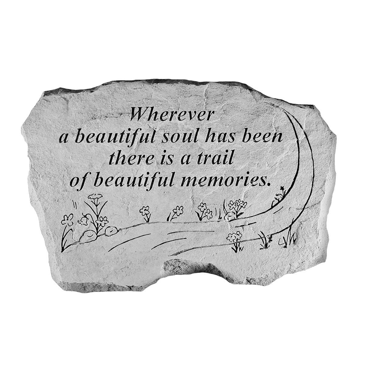 Design Toscano A Beautiful Soul: Cast Stone Memorial Garden Marker