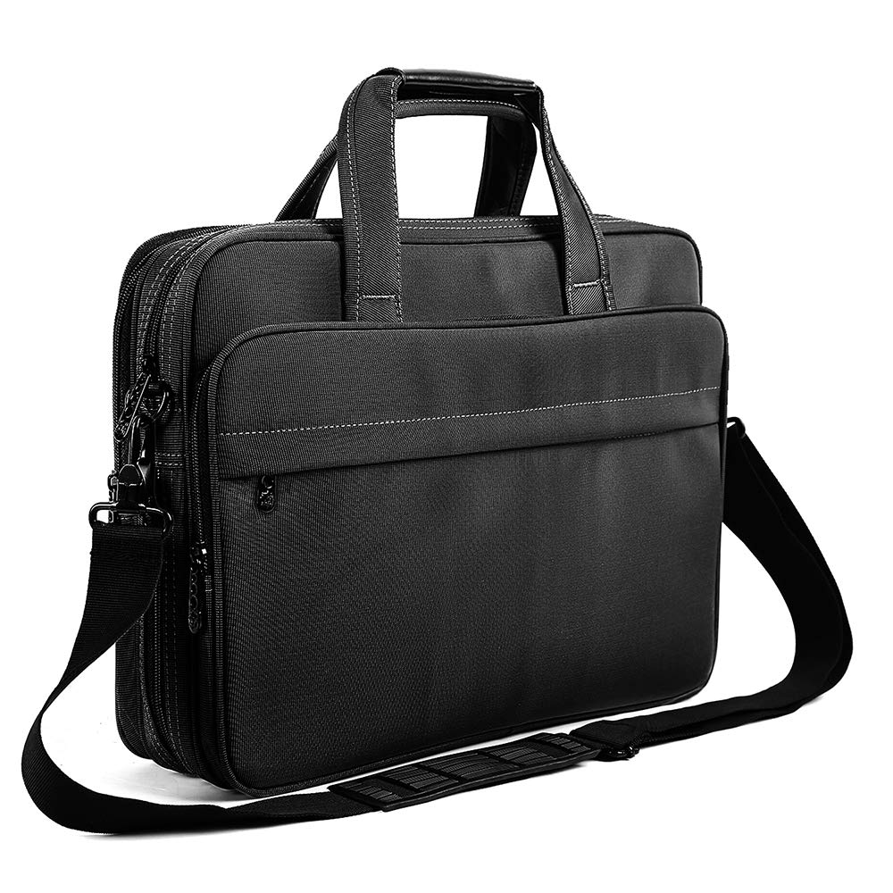 Laptop Briefcase 15.6 Inch Business Office Bag Laptop Bag for Men Women, Expandable Waterproof Stylish Nylon Multi-functional Laptop Shoulder Messenger Bag Computer Bag fit for Notebok Macbook Hp Dell