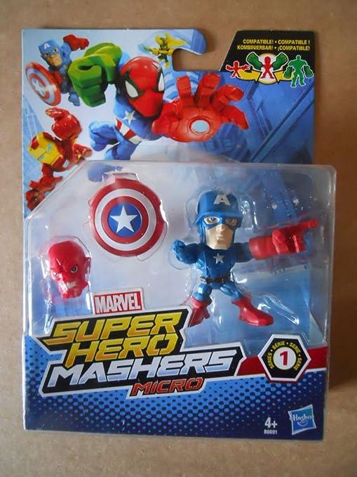 MARVEL SUPER HERO MASHERS MICRO HASBRO CAPITAN AMERICA MV0