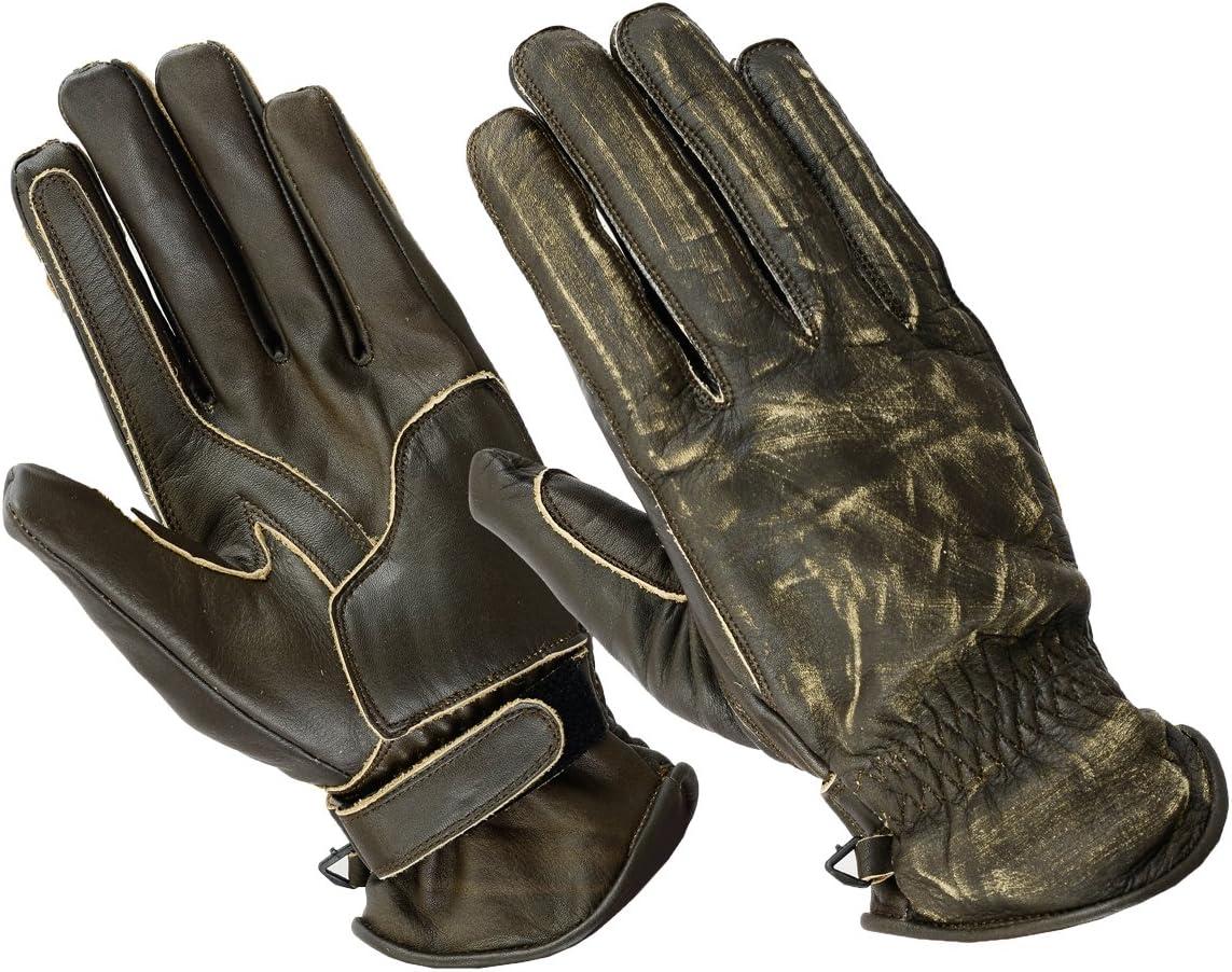 XXL, Wachs Rot BOSmoto Motorrad Handschuhen Racing Kevlar gewachst Leder Handschuhe Wachs