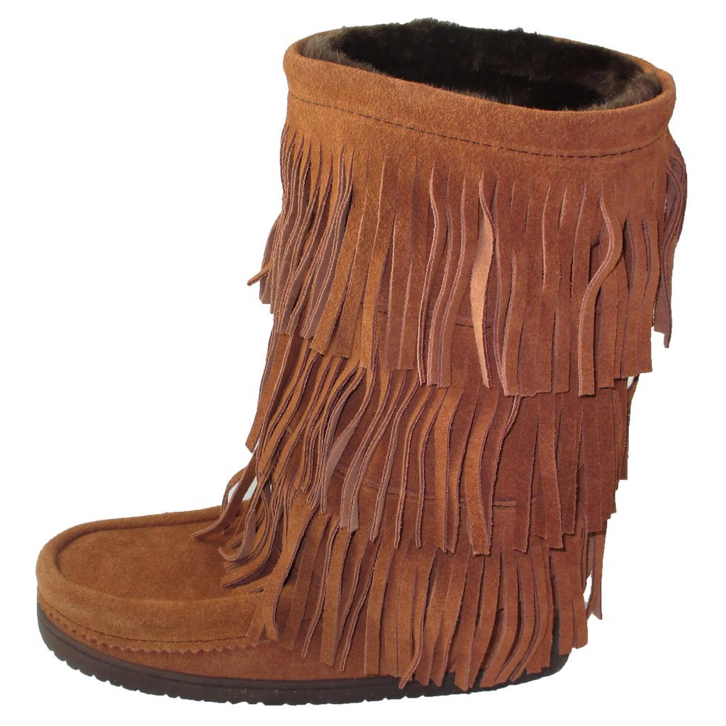 Manitobah Mukluks Women's Buffalo Dancer Snow Boot (Copper) (9)
