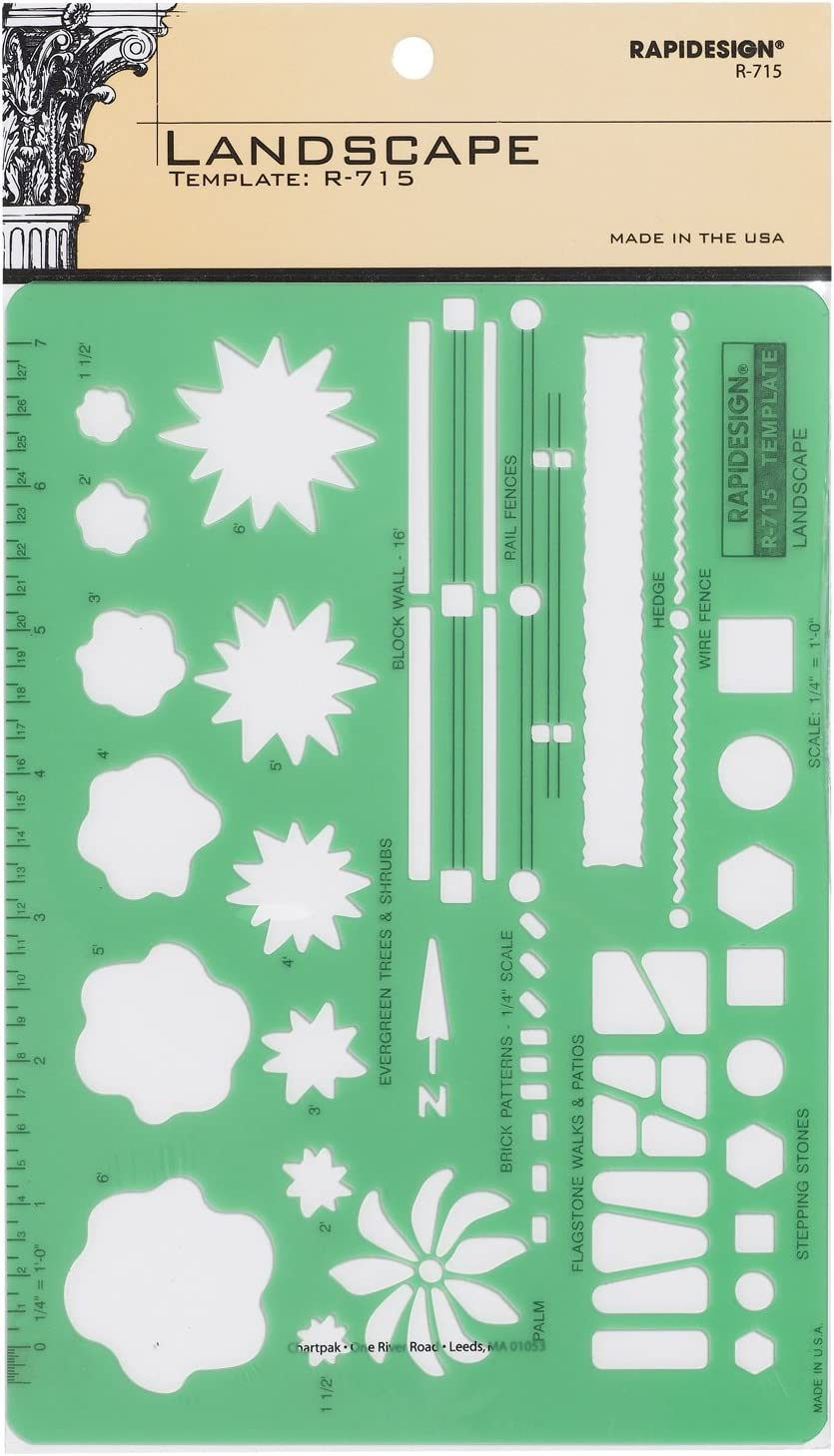 Rapidesign Landscaping Template, 1 Each (R715)