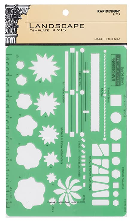 amazon com rapidesign landscaping template 1 each r715 paper