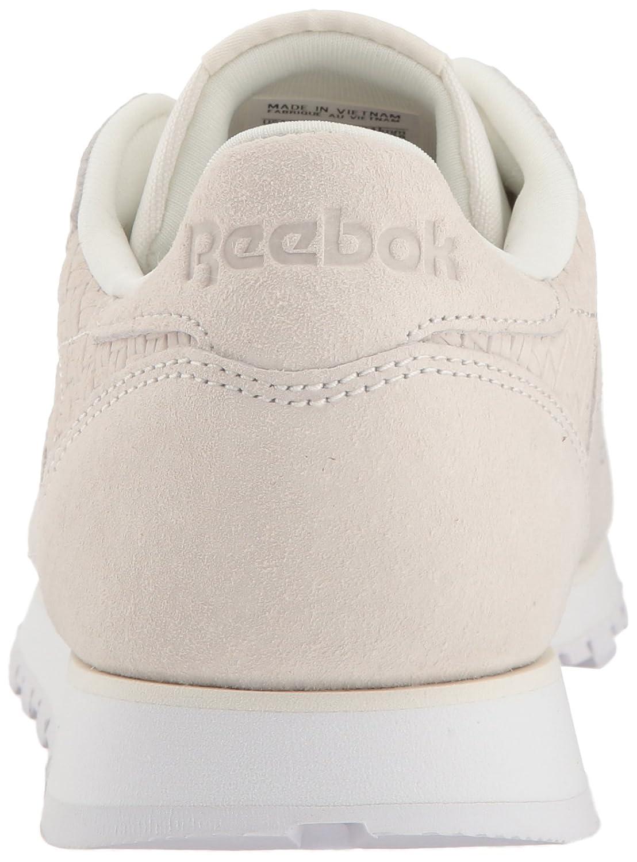 Reebok Womens Cl Lthr Woven Emb Sneaker