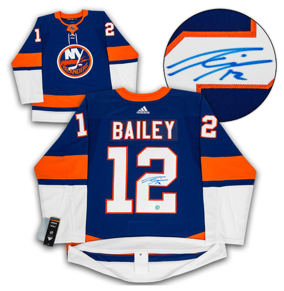 best sneakers 59242 071bd Josh Bailey New York Islanders Autographed Signature Adidas ...